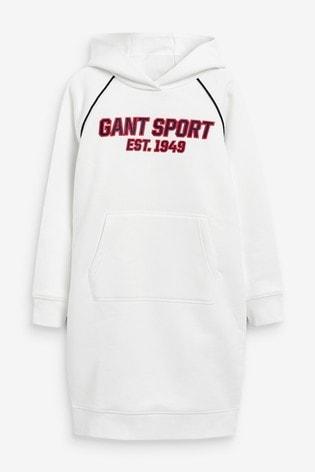 GANT White Sport Hoody Dress