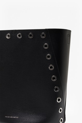French Connection Black Esi Studded Bucket Bag