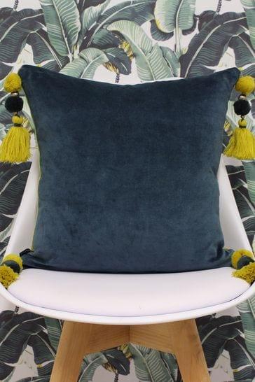 Riva Home Blue Poonam Reversible Cushion