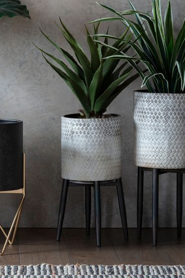 Albion Metal Planter by Gallery Direct