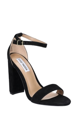 Steve Madden Black Carrson Chunky Heel Sandals