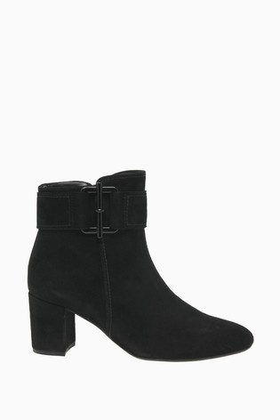 Gabor View Black Suede Fashion Ankle Boots