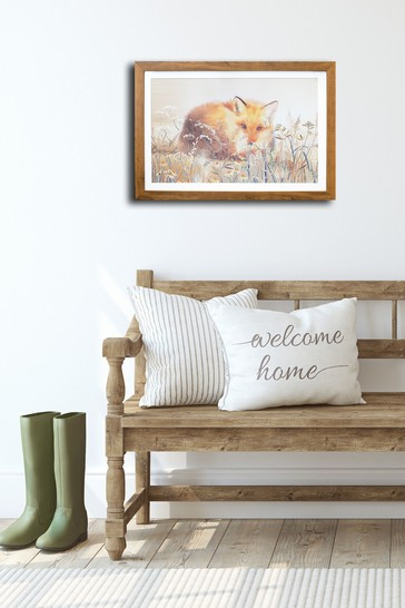 Meadow Fox Framed Print by Arthouse