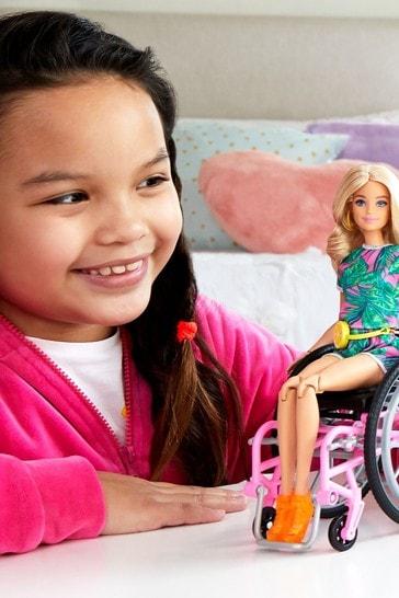 Barbie Fashionista Doll With Wheelchair Accessory  Ramp