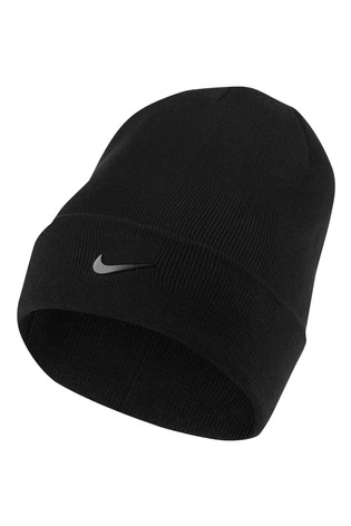 Nike Adults Black Swoosh Beanie