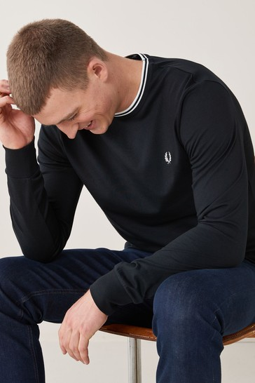 Fred Perry Twin Tipped Long Sleeve Top