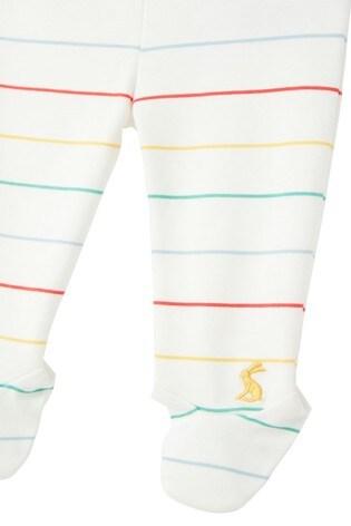 Joules White Crawler Organic Cotton Footed Leggings