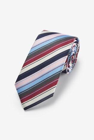 Pink/Blue Stripe Pattern Tie