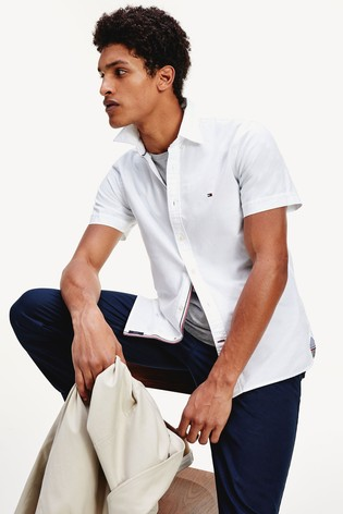 Tommy Hilfiger Slim Fit Short Sleeve Oxford Shirt