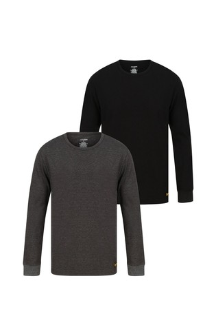 Lyle & Scott Long Sleeve Lounge T-Shirts Two Pack