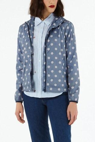 Cath Kidston® Navy Button Spot Twill Short Raincoat