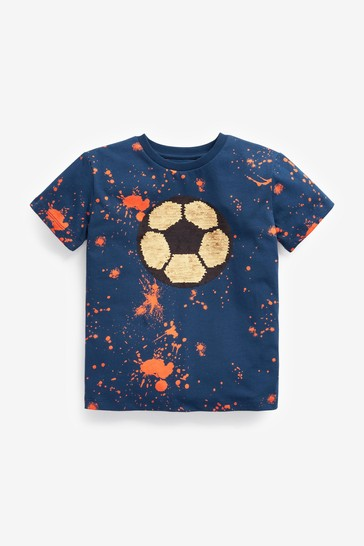 Blue Flippy Sequin T-Shirt (3-16yrs)