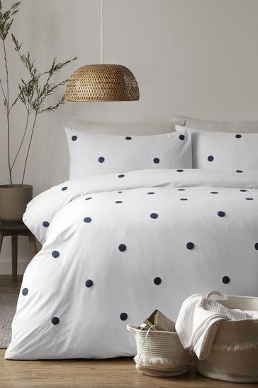 Appletree Dot Garden Tufted Duvet Cover and Pillowcase Set