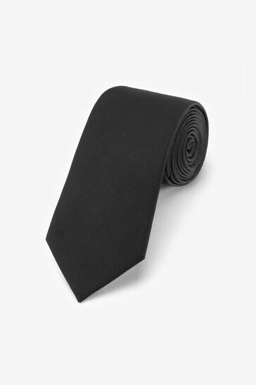 Black Wide Twill Tie