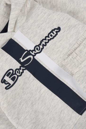 Ben Sherman® Grey Mod Script Hoodie And Joggers Set