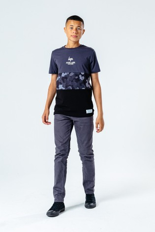 Hype. Abstract Printed Panel T-Shirt