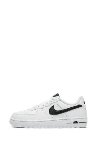 nike air force 1 junior black and white