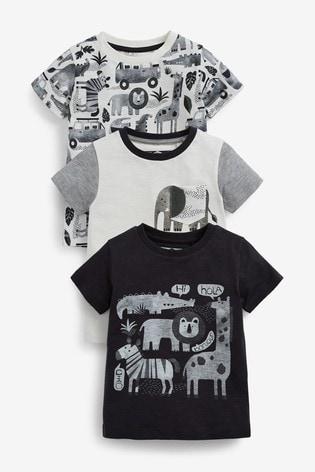 Mono Safari 3 Pack T-Shirts (3mths-7yrs)