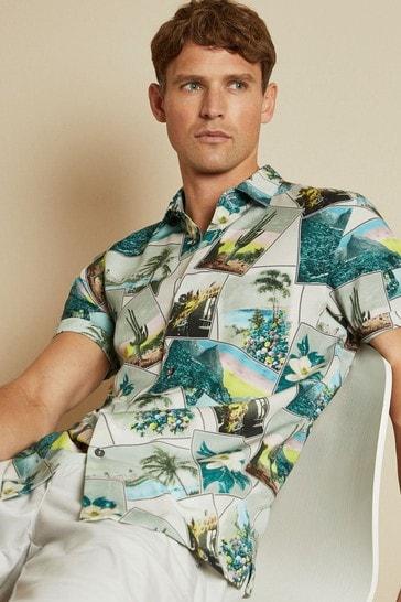 Ted Baker Postcard Revere Collar Shirt