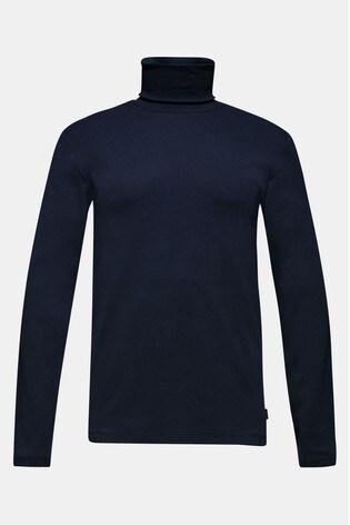 Esprit Blue Cotton Roll Neck