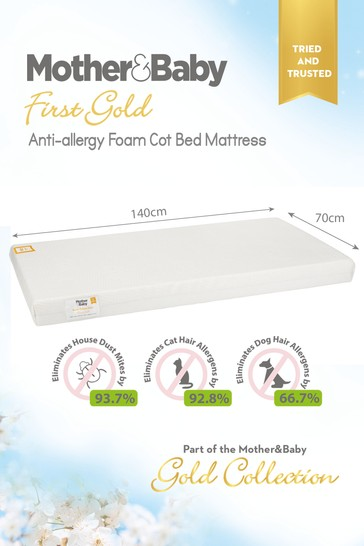 Mother&Baby First Gold Anti Allergy Foam CotBed Mattress