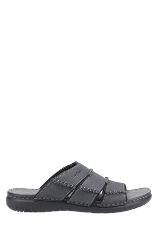 Hush Puppies Black Cameron Mule Sandals