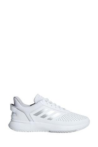 adidas White Courtsmash Trainers