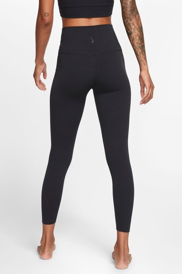 Nike Yoga Black Luxe High Waisted 7/8 Leggings