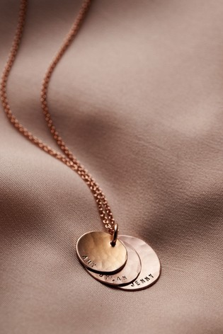 Personalised Rose Gold Family Necklace by Posh Totty Designs