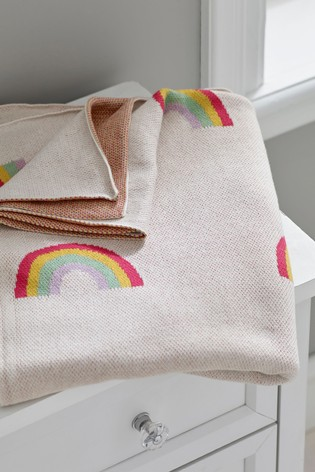 100% Cotton Knitted Throw