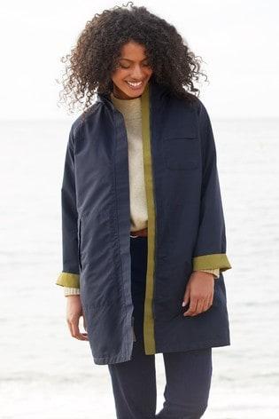 Seasalt Green Two Paths Cut Stem Reversible Raincoat