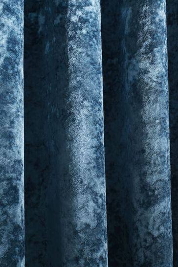 Crushed Velvet Eyelet Curtains by Catherine Lansfield