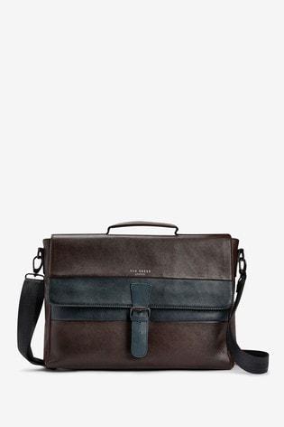 Ted Baker Bocelli Striped Leather Messenger Bag