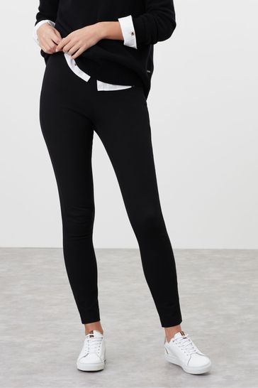 Joules Black Hepworth Pull-On Stretch Trousers