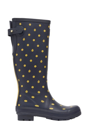 Printed Welly With Back Gusset