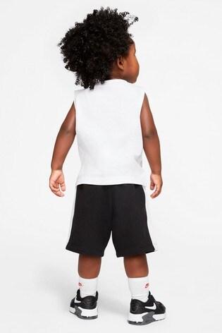 Nike Infant Blue Space Logo Vest And Short Set