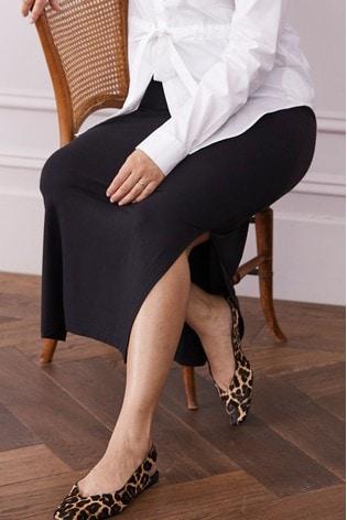 Black Maternity Jersey Maxi Skirt