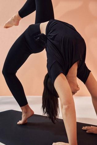 Nike Yoga Black High Waisted 7/8 Seamless Leggings