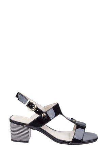 Riva Black Hot Heels Fabia T-Bar Mule Sandals