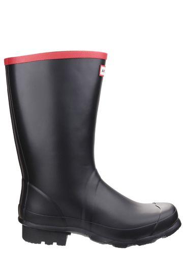 Hunter Black Argyll Short Knee Wellington Boots