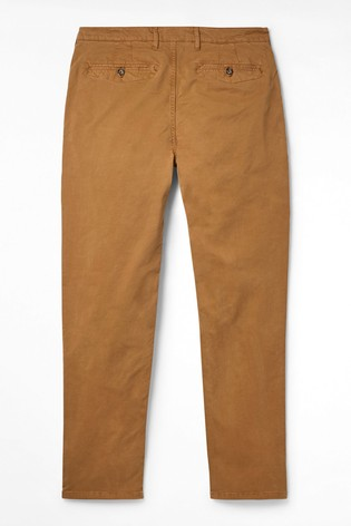 White Stuff Brown Portland Organic Overdye Chino Trousers