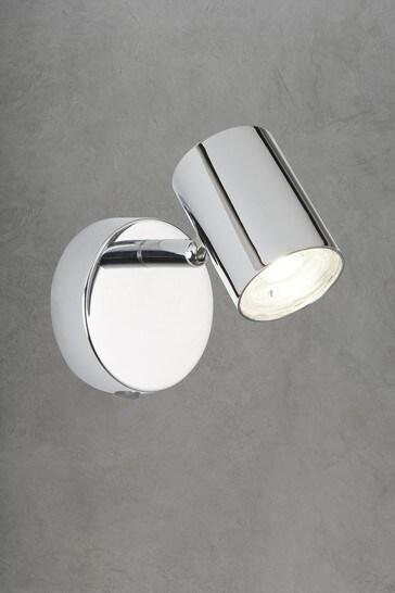Mearns Dim 1 Light Cylinder Header Single Spotlight by Searchlight