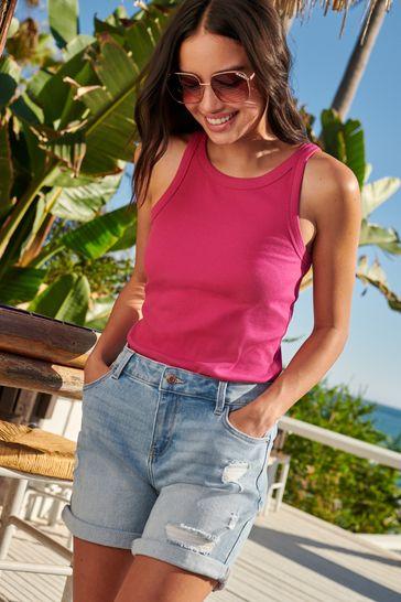 Bleach Ripped Boy Shorts