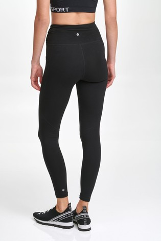 DKNY Black High Waist Zip Leggings
