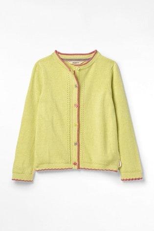 White Stuff Green Kids Summer Linen Blend Cardigan