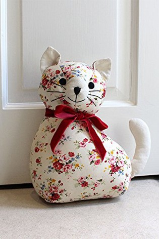 Vintage Floral Cat Doorstop by Riva Home