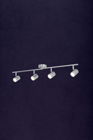 Mearns Dim 4 Light Cylinder Spotlight Bar by Searchlight