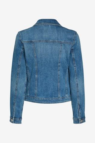 Mid Blue Fuller Bust Denim Jacket