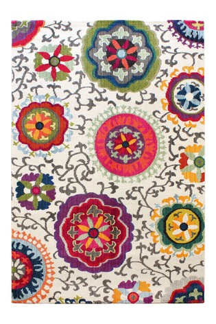 Colores Funky Floral Rug by Asiatic Rugs