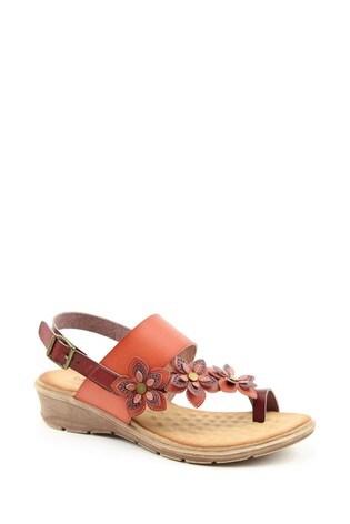 Heavenly Feet Violet Ladies Brown/Tan Sandals
